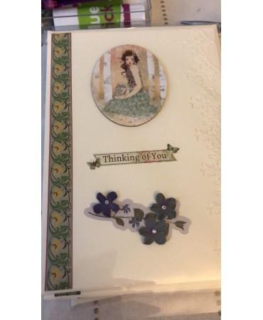 Unique piece of card, handmade