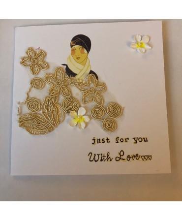 Unique piece of card,handmade