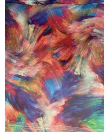 Laser print 100 Silk scarf