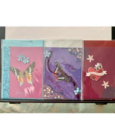 handmade cards, unique pieces