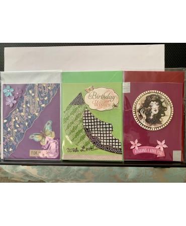 Handmade cards,unique pieces