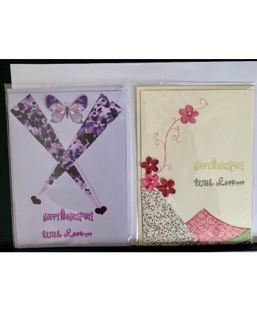 Handmade cards, unique pieces