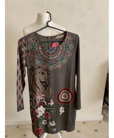 Ladies dress chamois texture