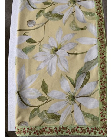 Luxury  floral table cloth...